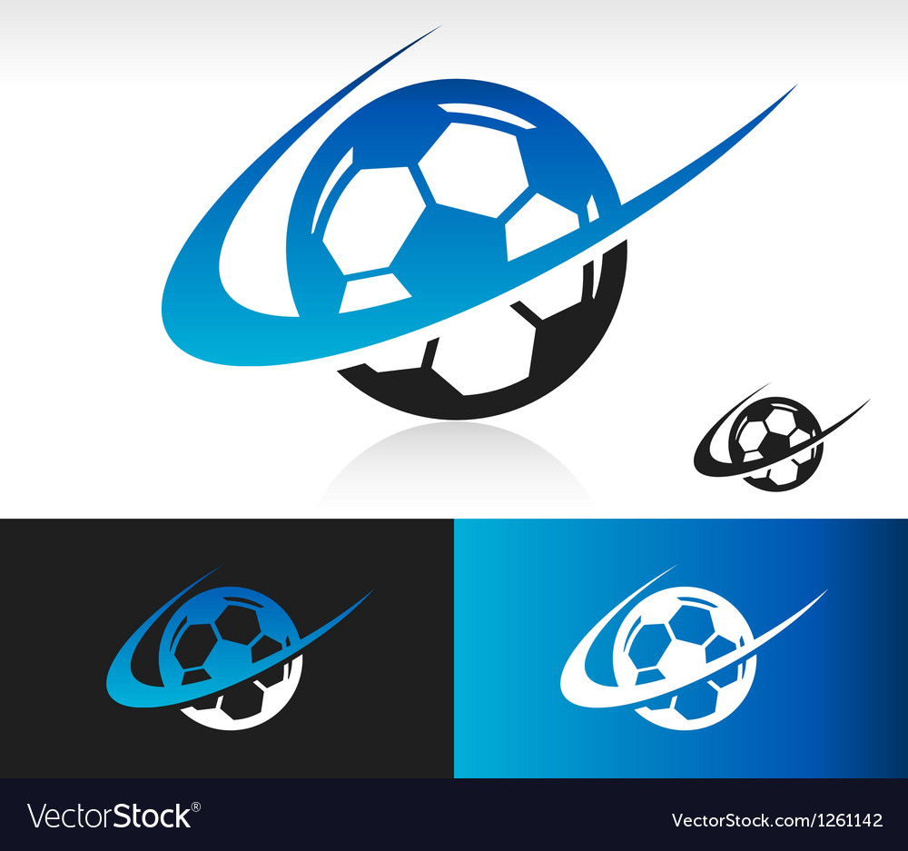 Swoosh Soccer Ball Logo Icon