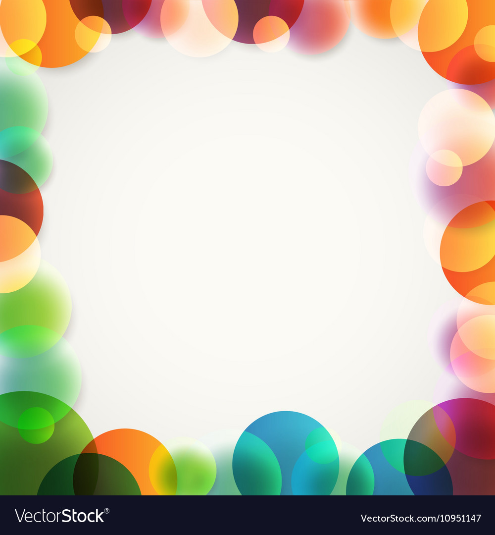 Abstract background of different color circles
