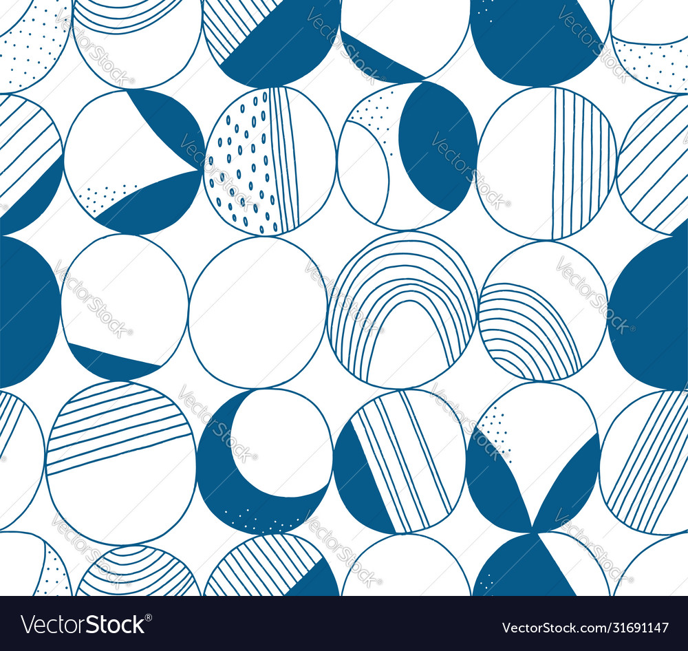 Abstract moon seamless pattern