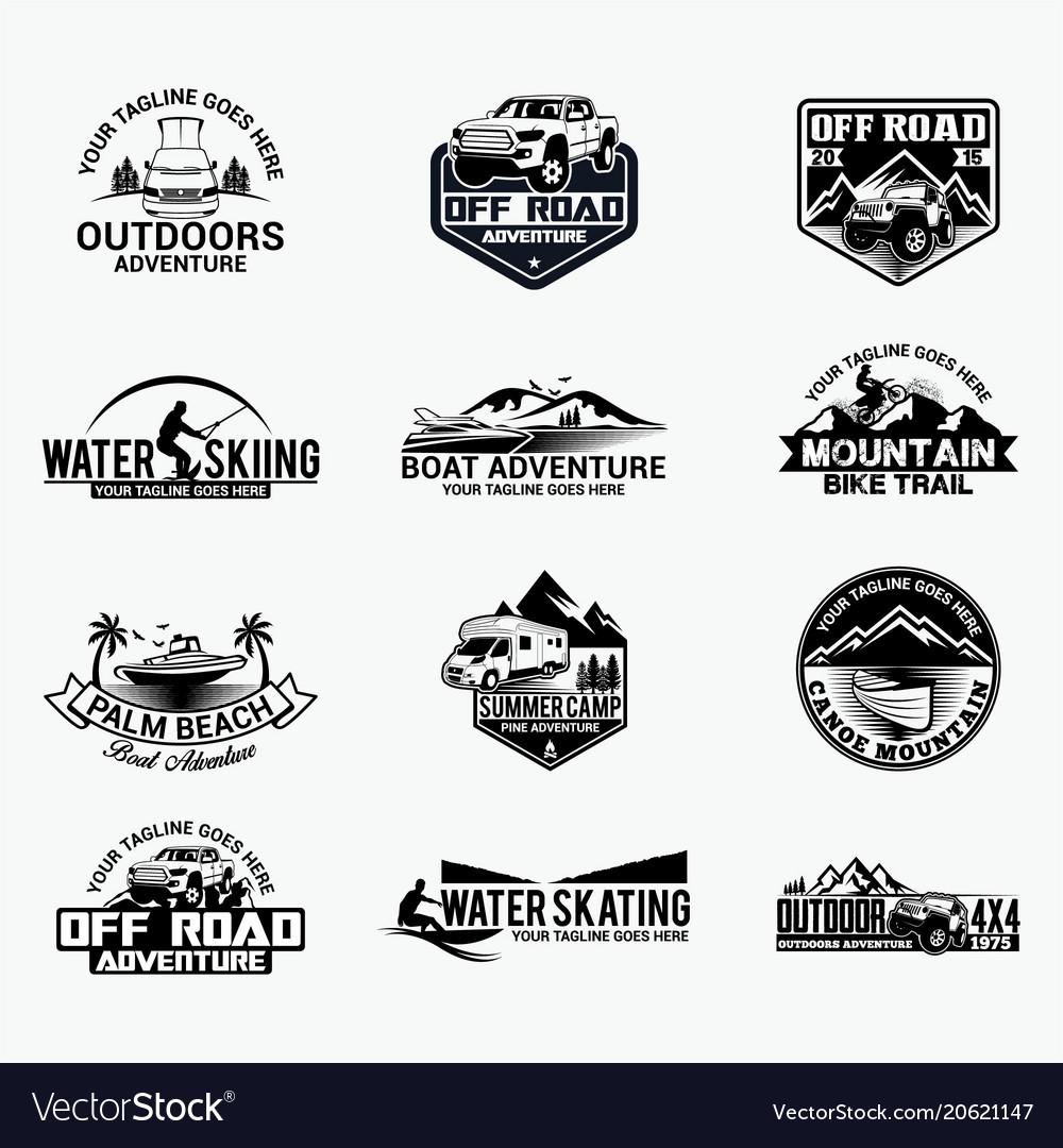 Adventure logo badges 9
