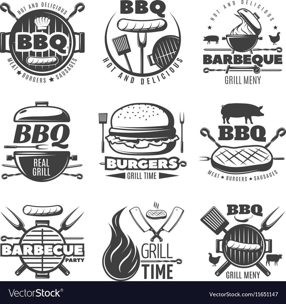 BBQ Grill Emblems Set