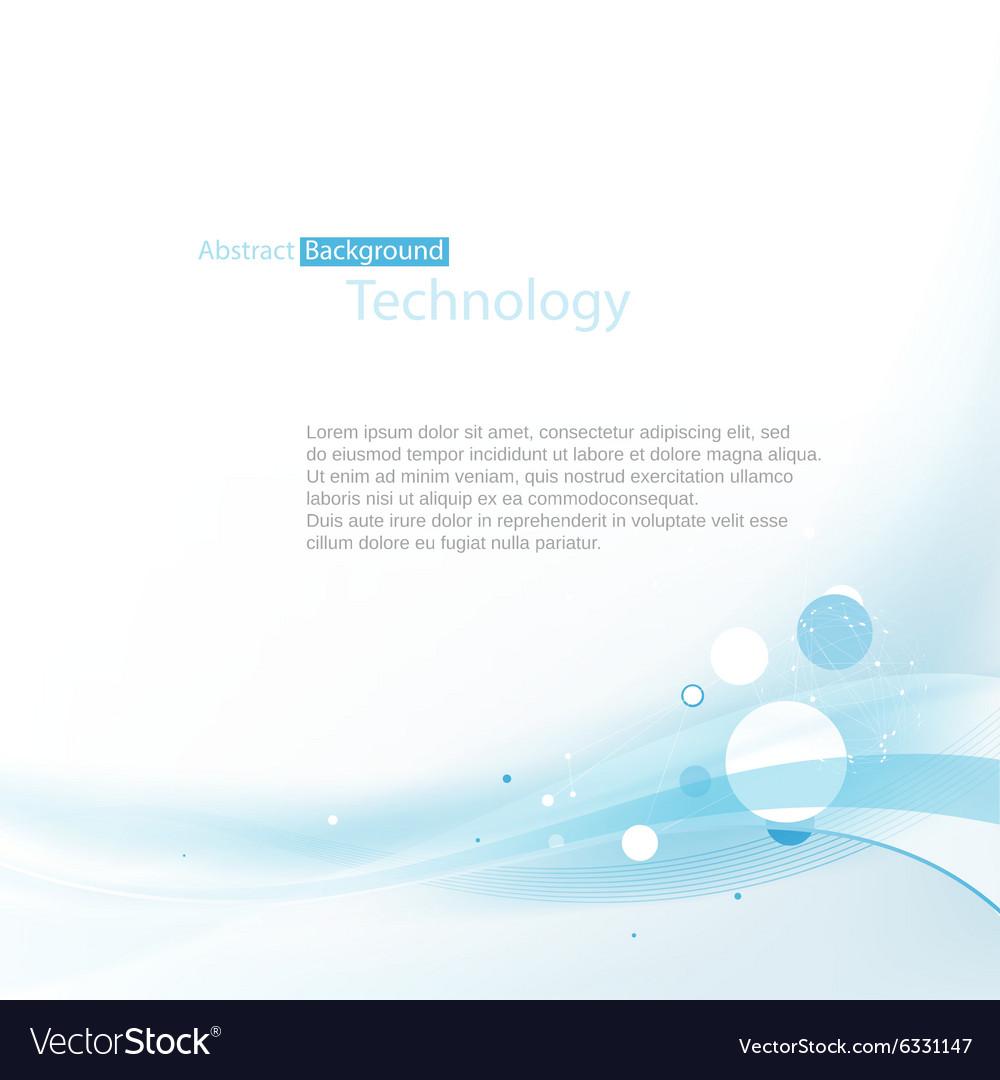 Blue technoplogy background vector image