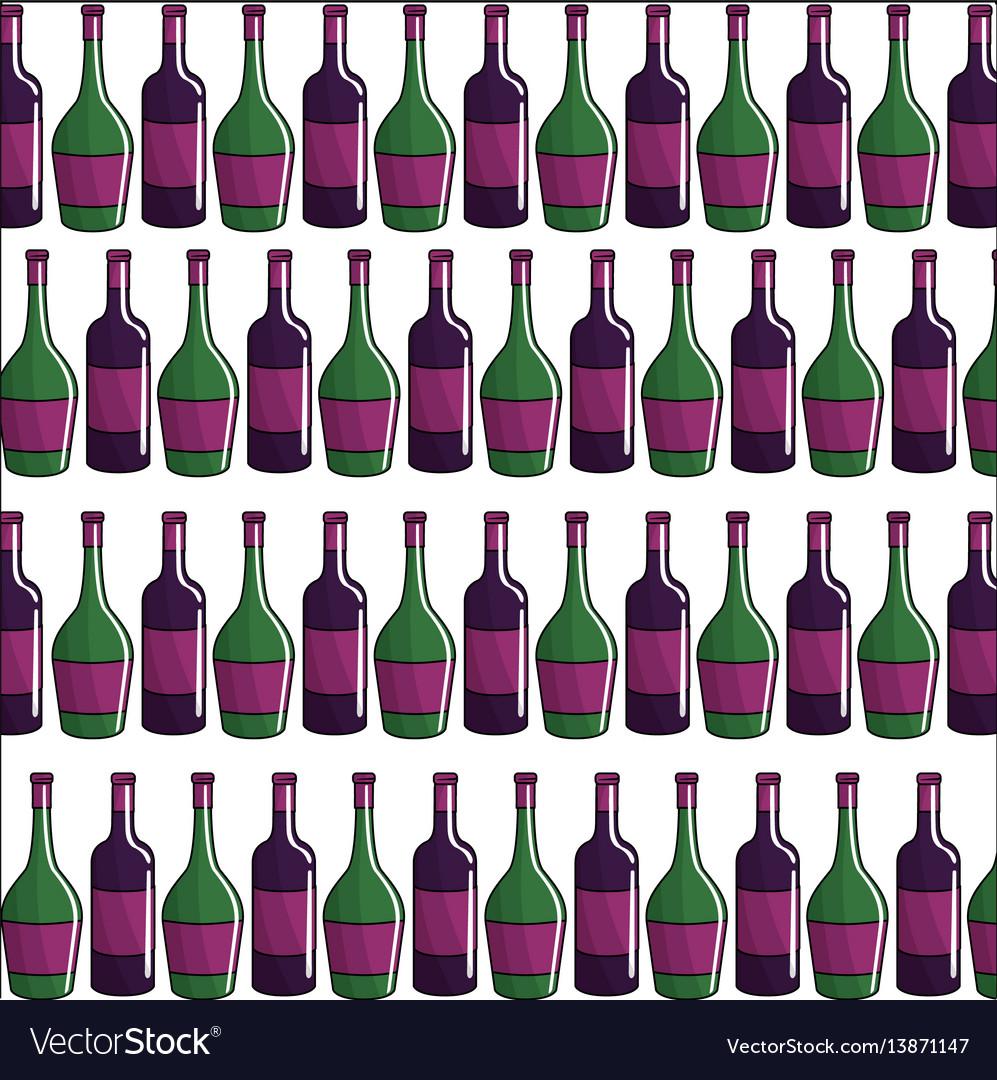 Bottle of wine background icon stock