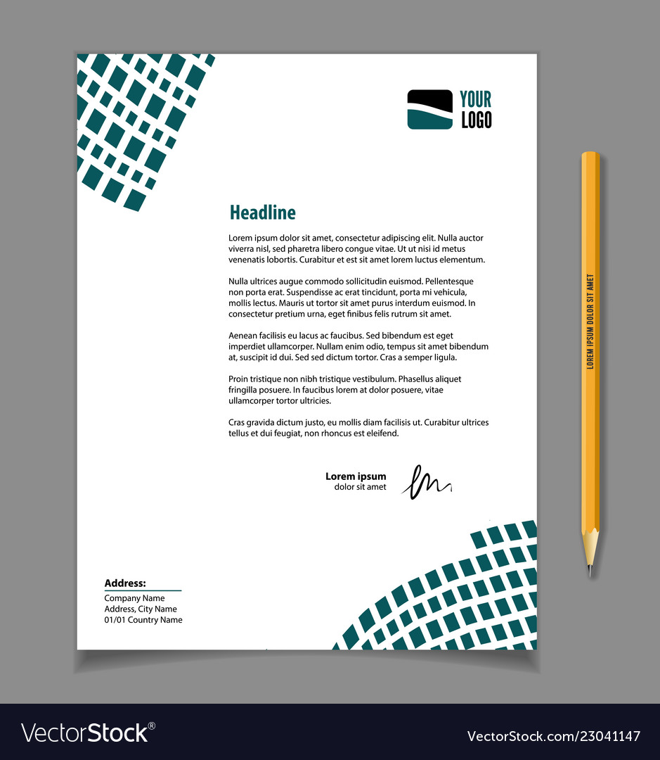 Business Letter Header Template from cdn3.vectorstock.com