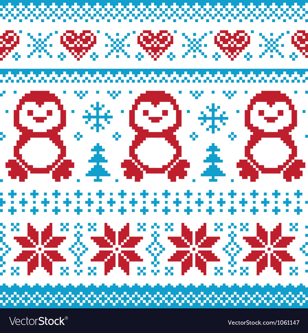 Christmas knitted pattern scandynavian sweater
