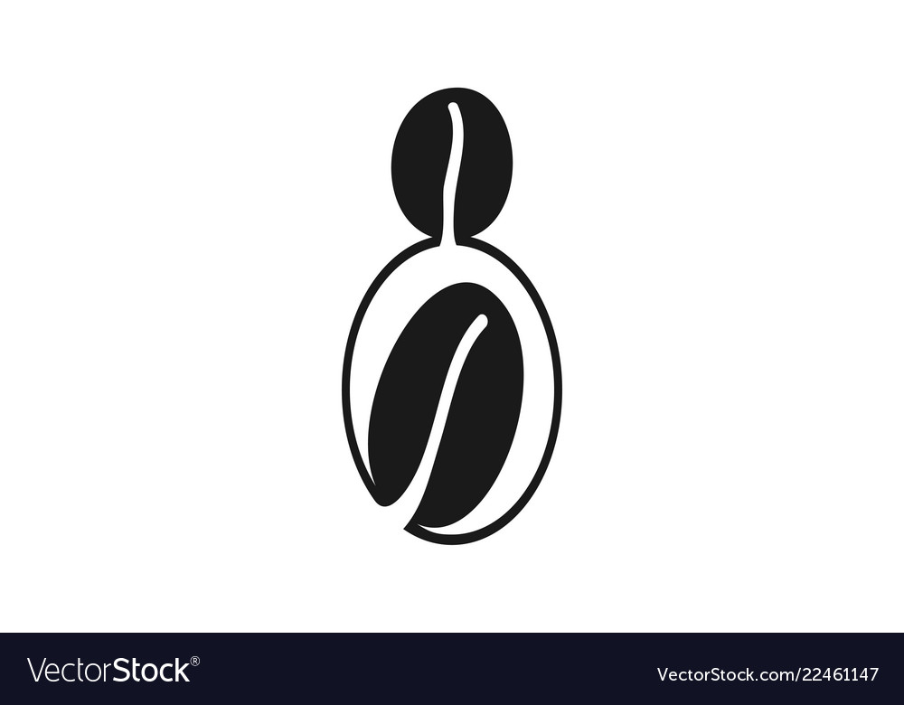 Coffee bean logo designs inspiration isolated on