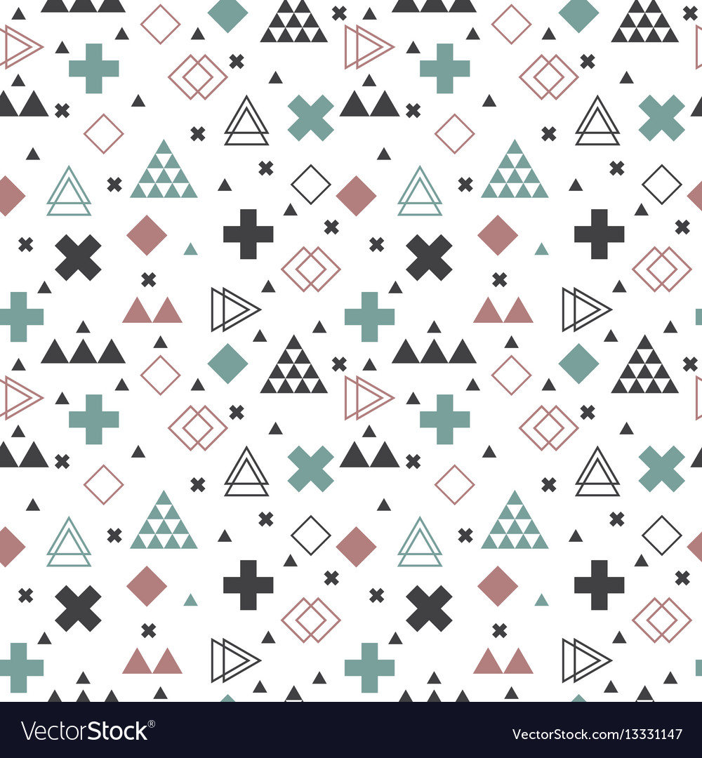 Geometric scandinavian seamless pattern abstract