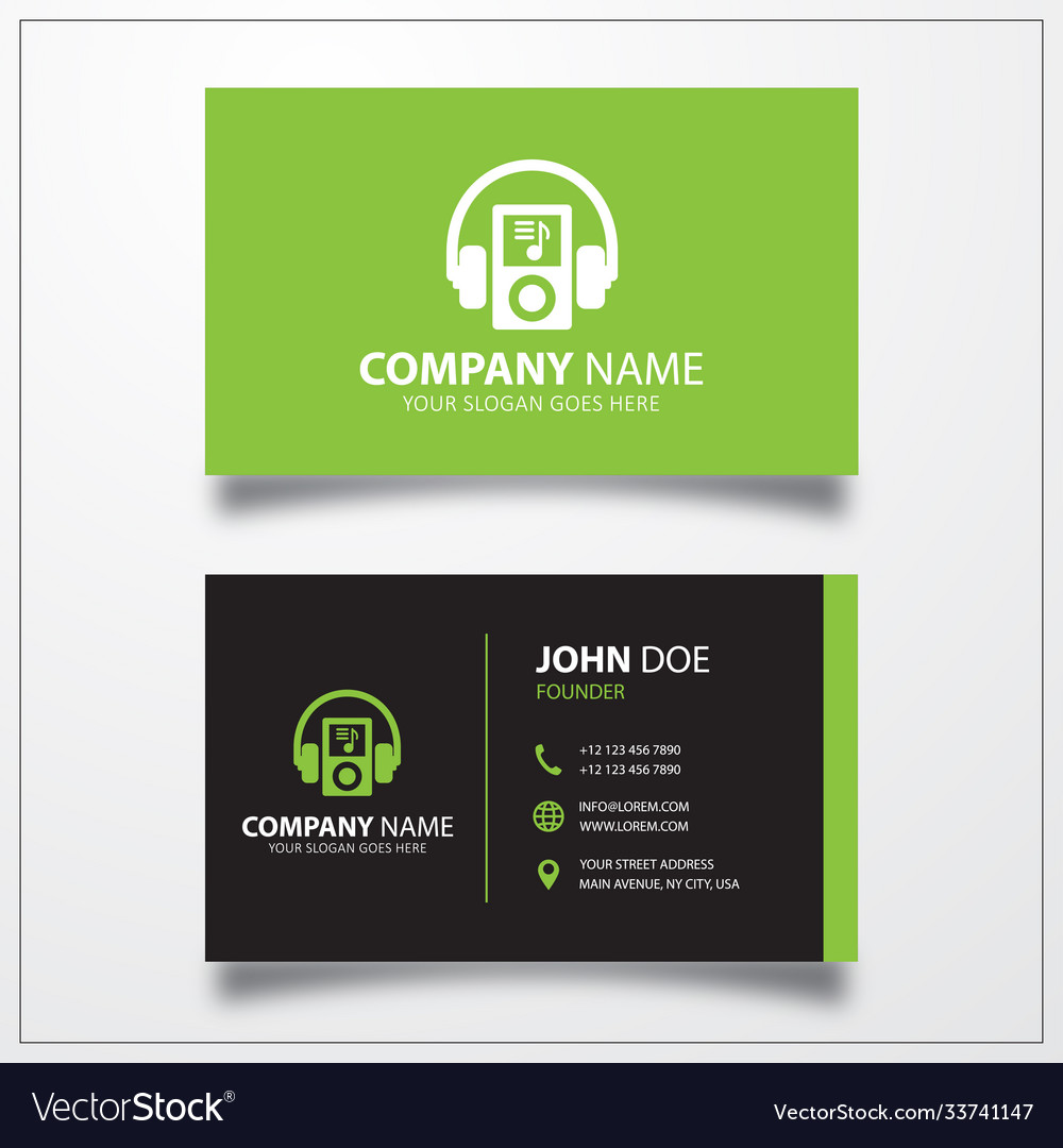 International music icon business card template