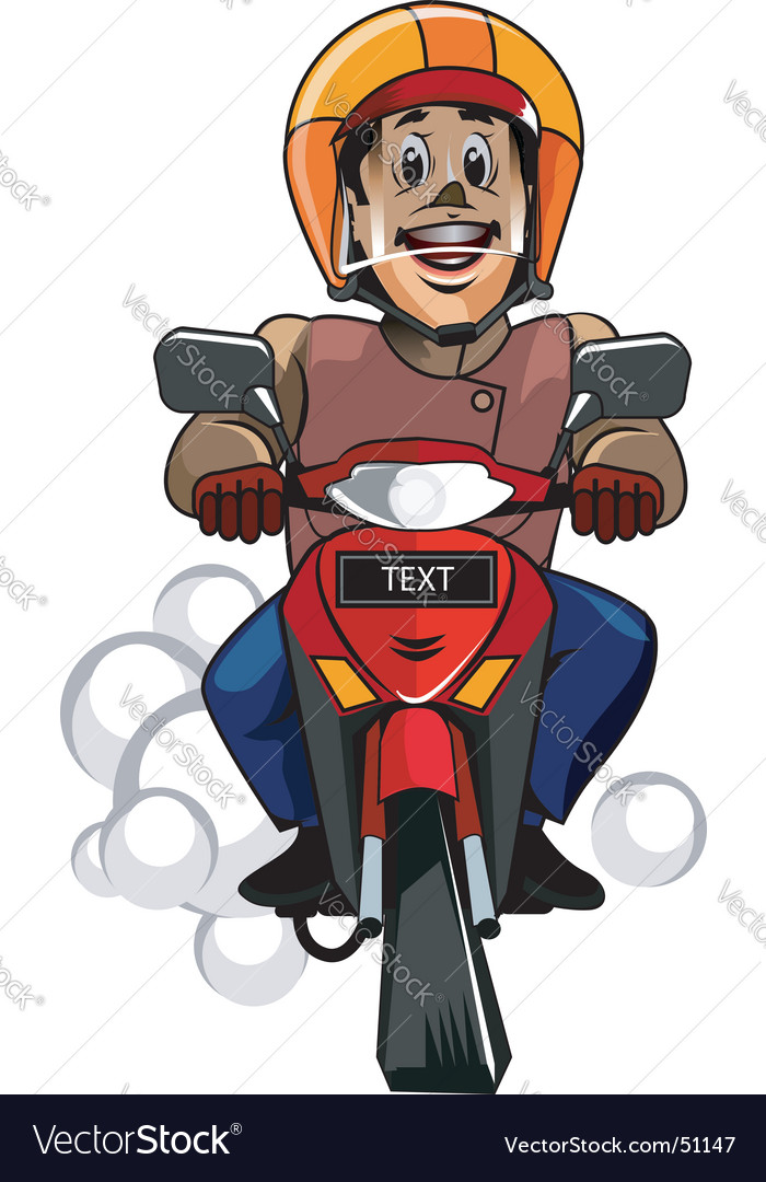 Safety riding vector image