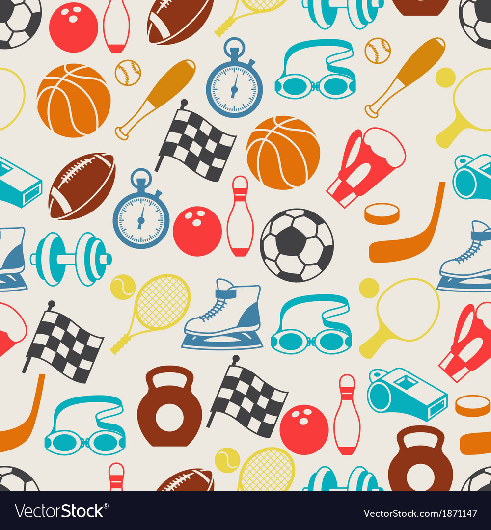 Seamless pattern sport icons