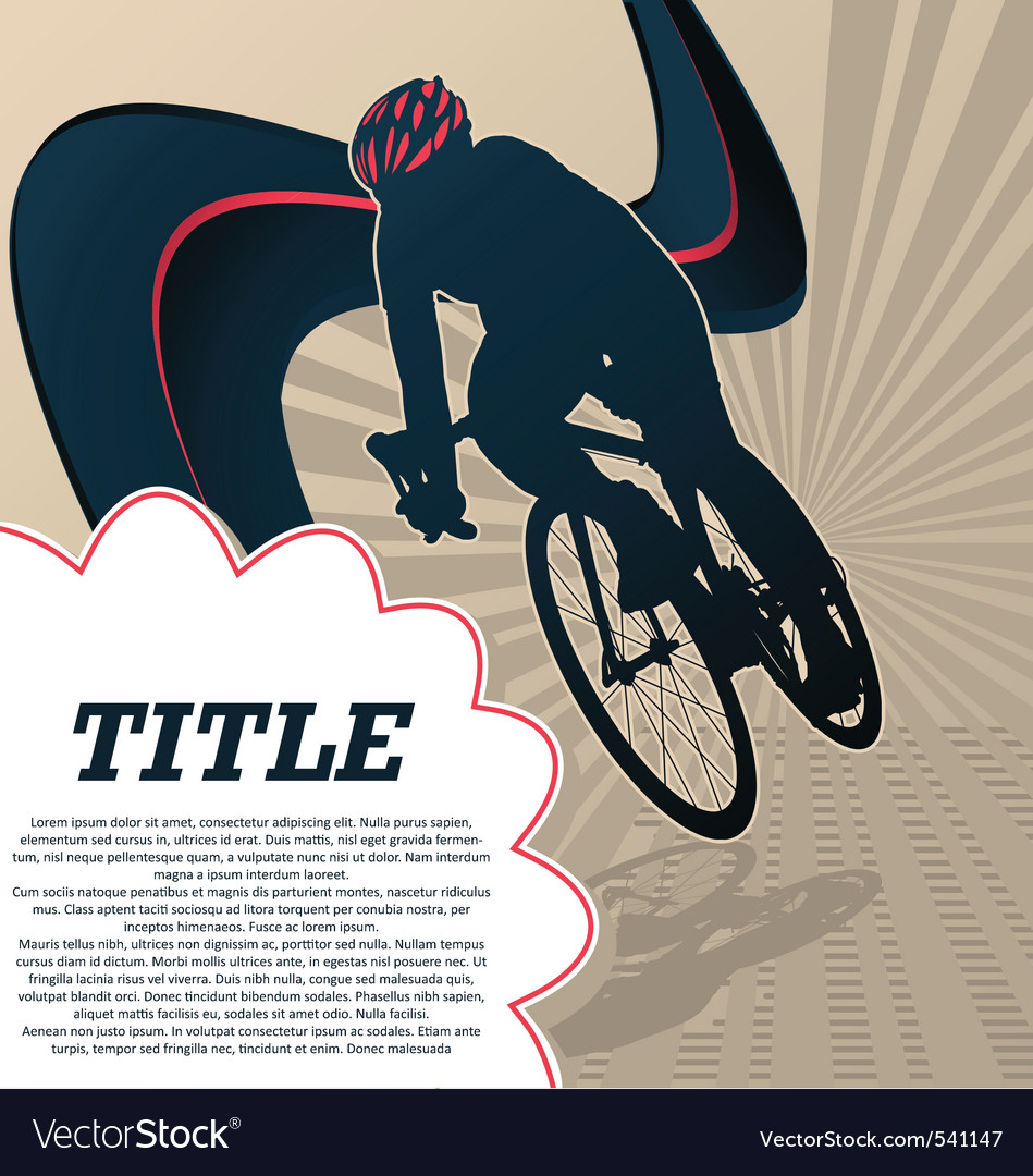 Sport template poster cycling