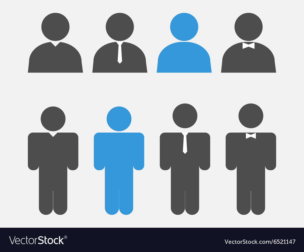 Stick figure positions set vector image