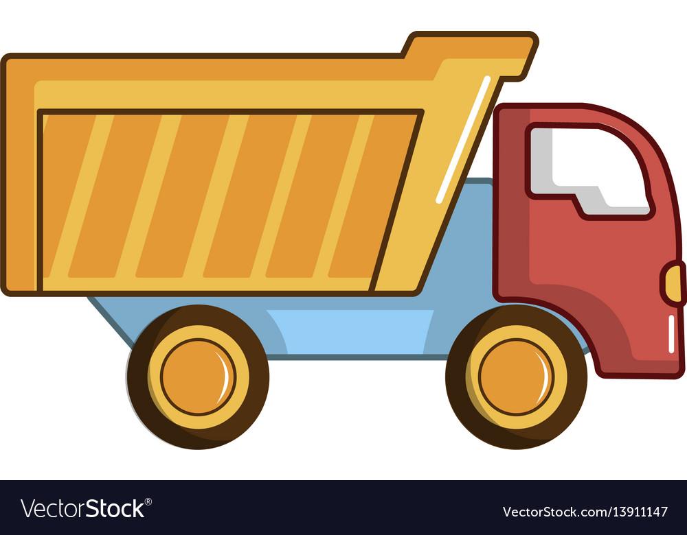Toy truck icon cartoon style