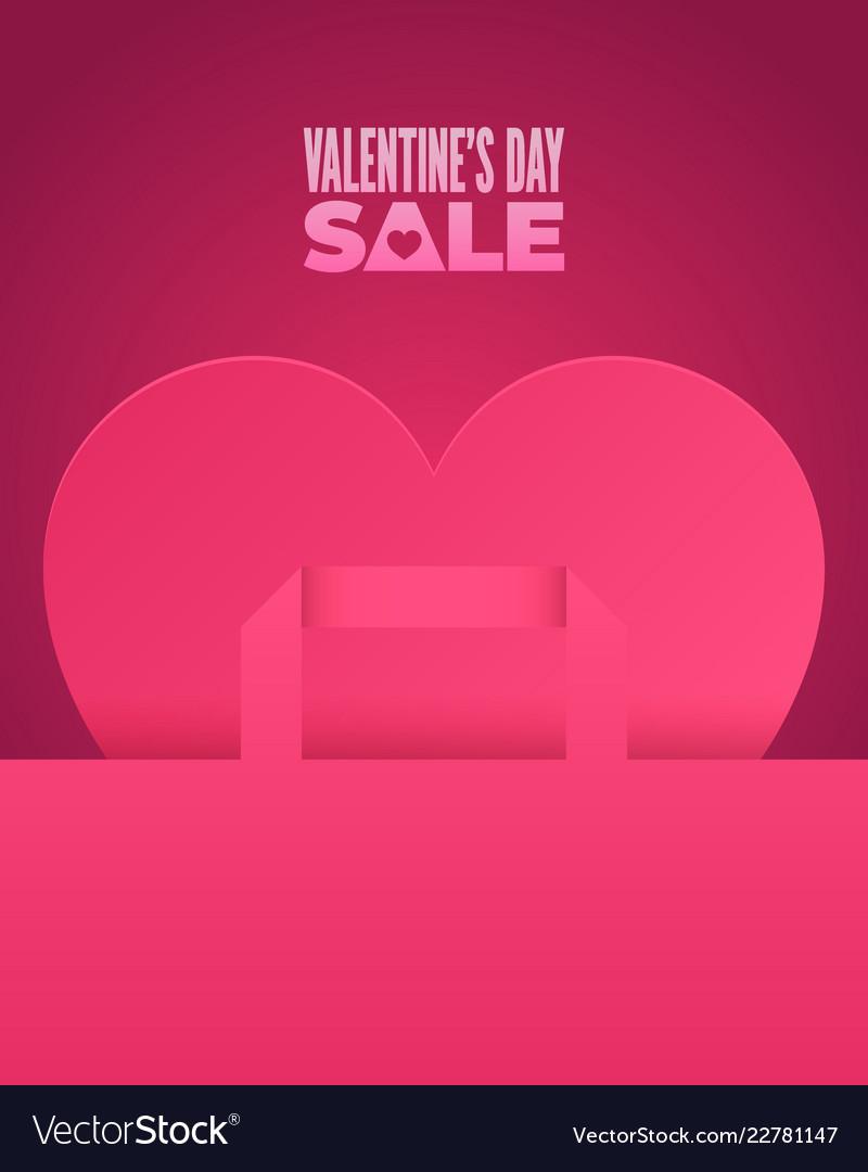 Valentines day sale romantic pink design
