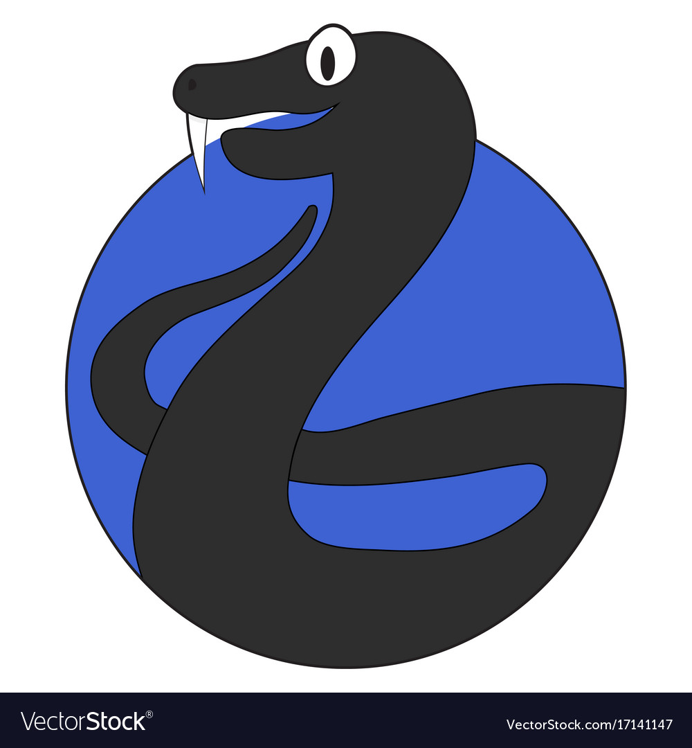 Viper cartoon icon flat app