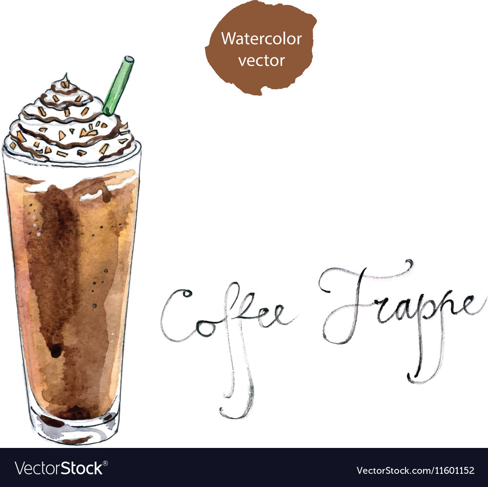 Coffee frappe vector image