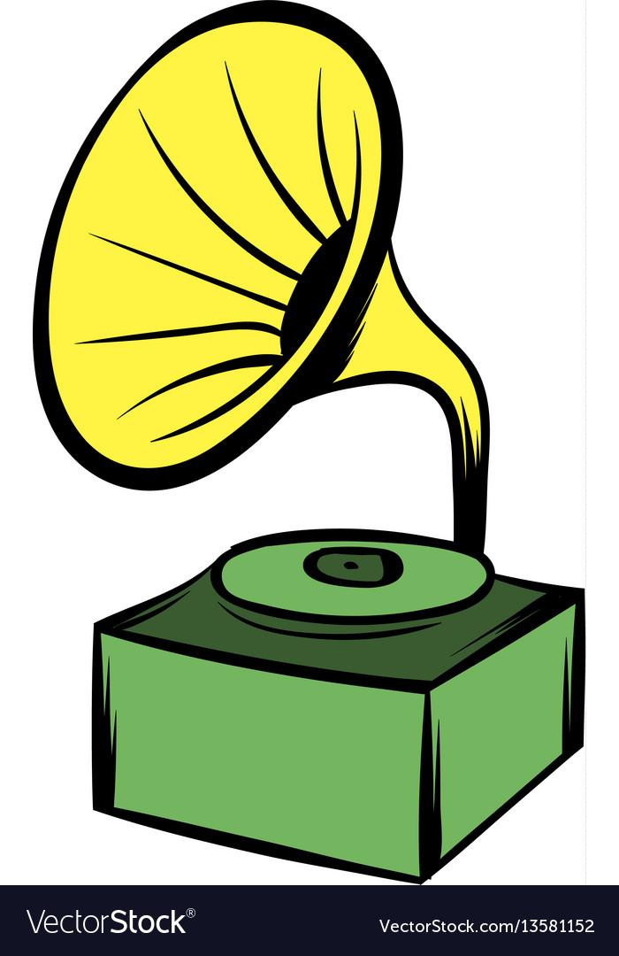 gramophone icon cartoon royalty free vector image vectorstock