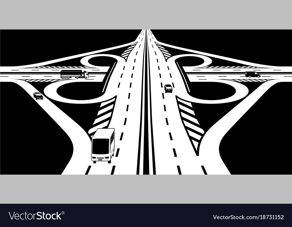 Intersection of two highways