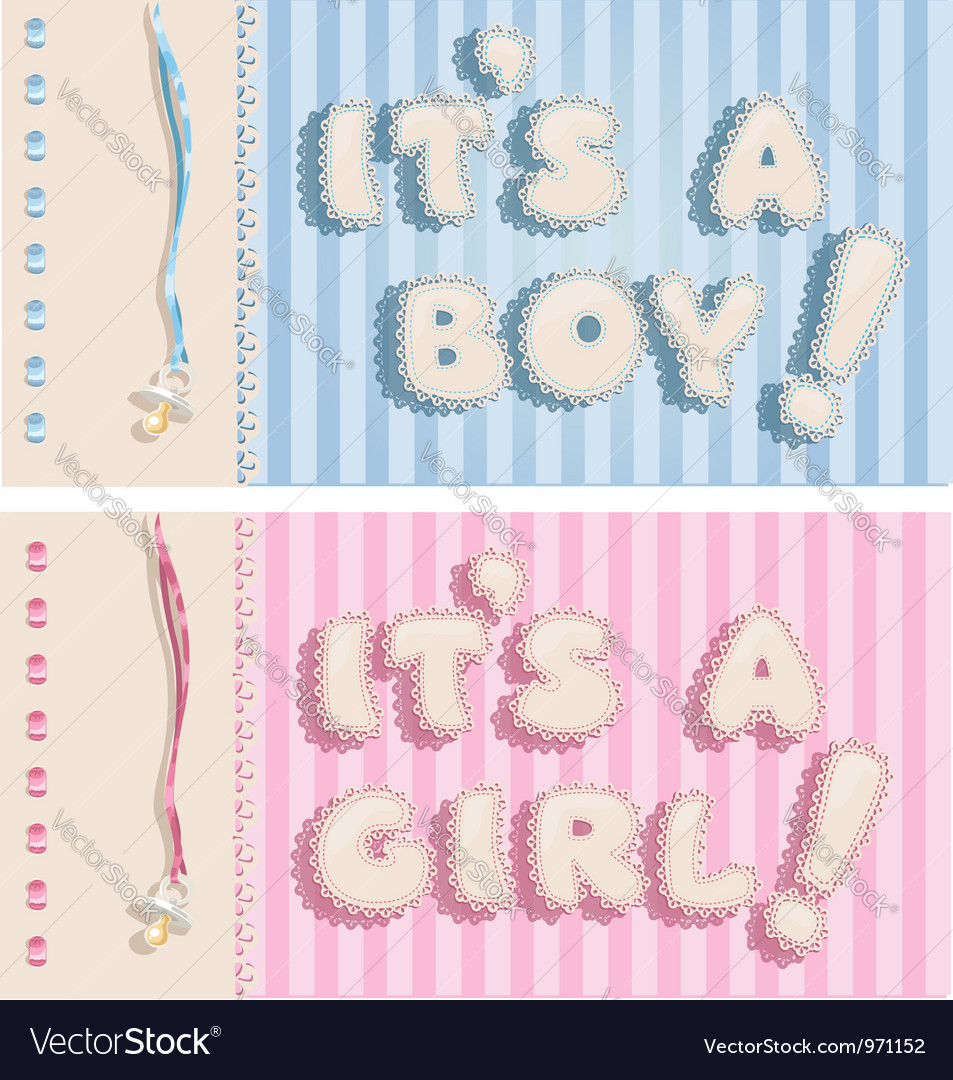 its a boy and its a girl banners royalty free vector image