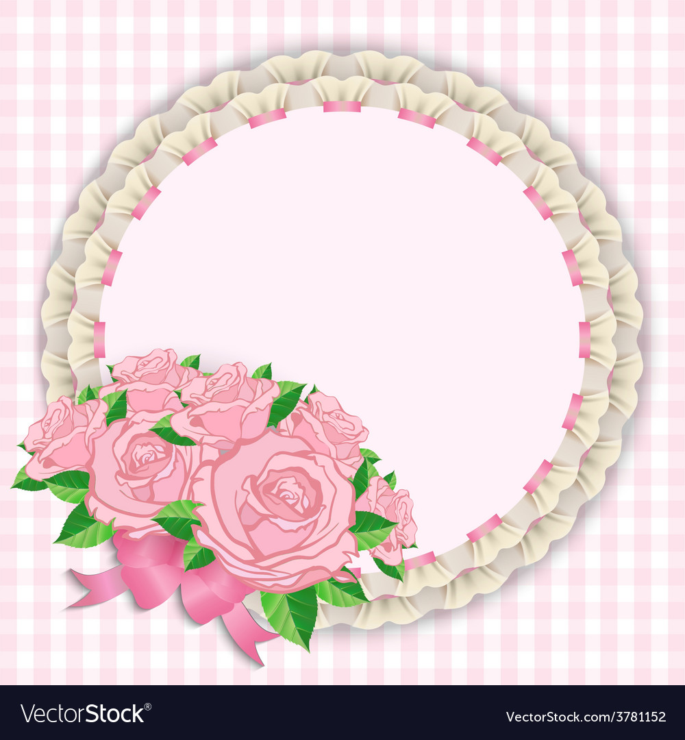 Napkins and roses vector image