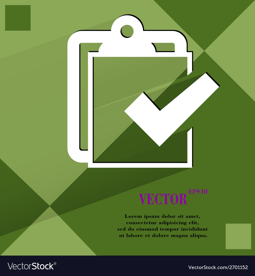 Notepad paper Documents Flat modern web design on vector image on  VectorStock