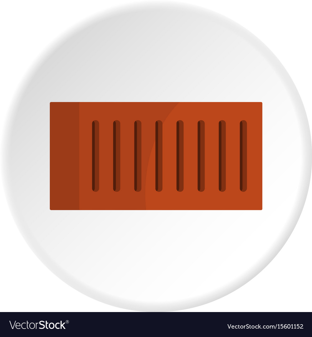 Orange brick icon circle vector image