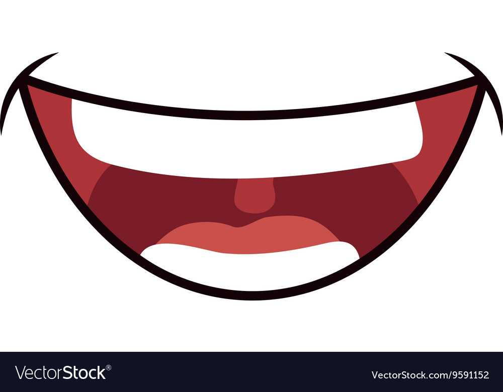 Smile cartoon icon Mouth design graphic Royalty Free Vector