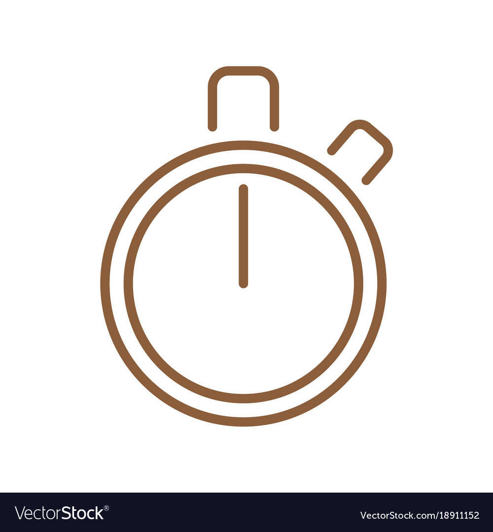Timer infographic element vector image