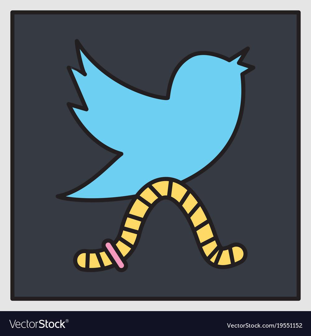 Unusual look tweet bird logotwitter icon