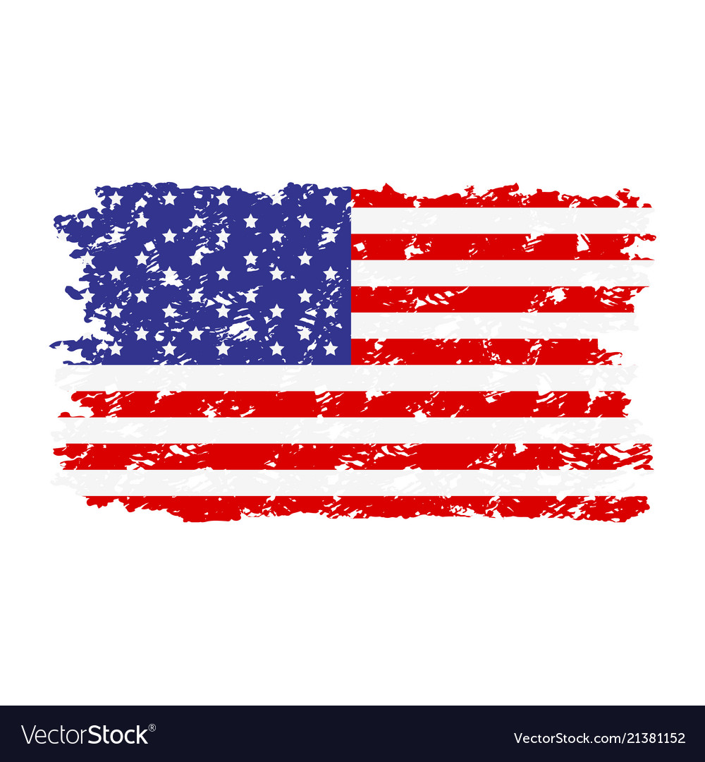 Usa flag texture rubber stamp