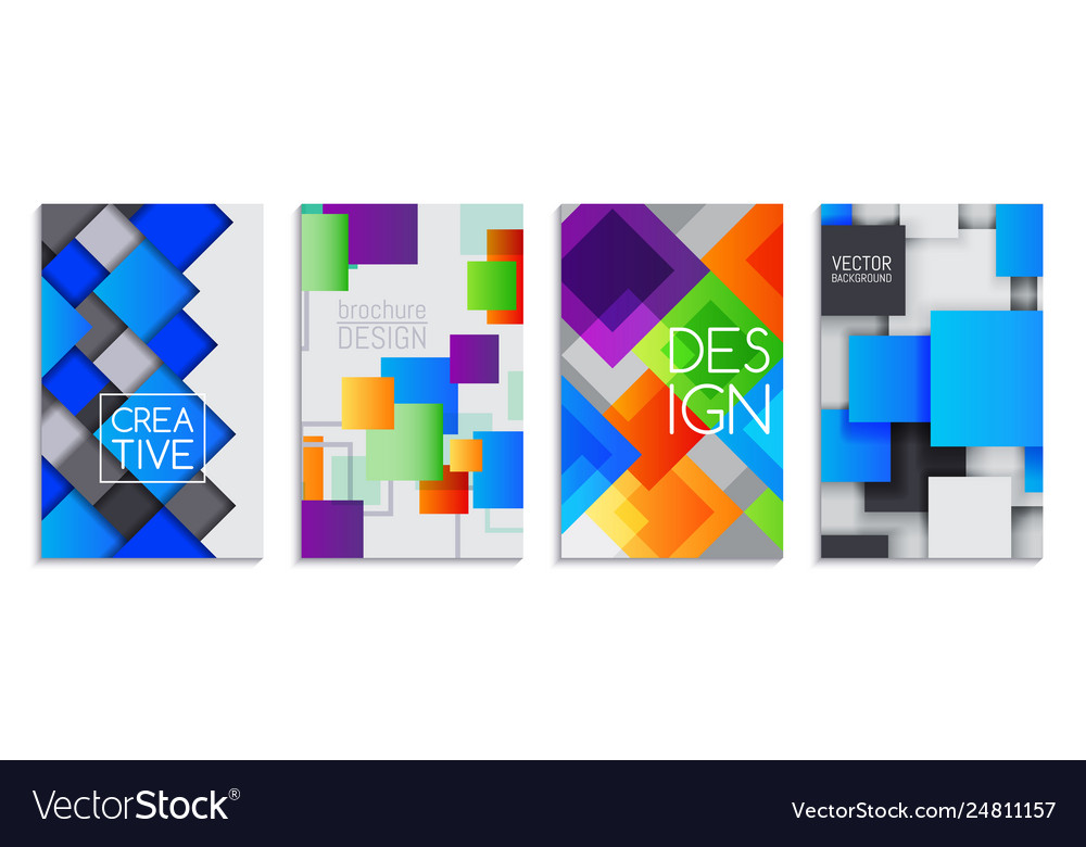 Abstract card set banners brochures