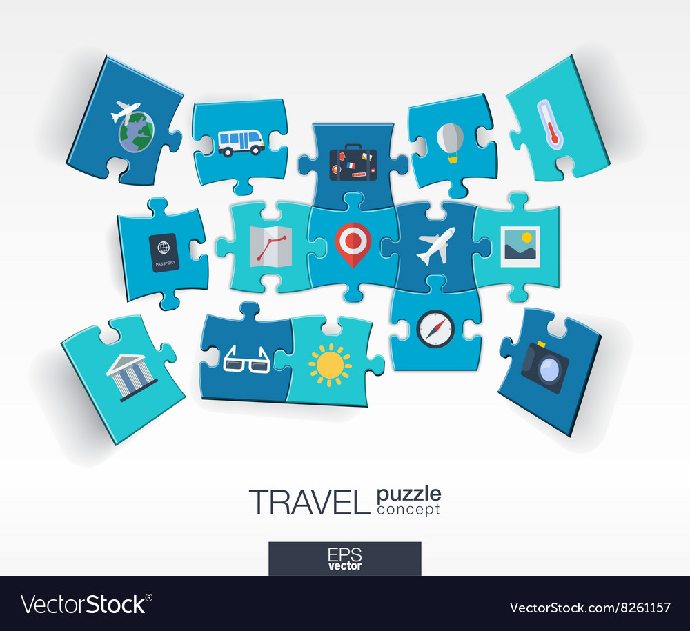 Abstract travel background with connected color