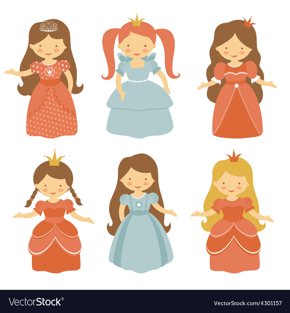 Beautiful princesses set