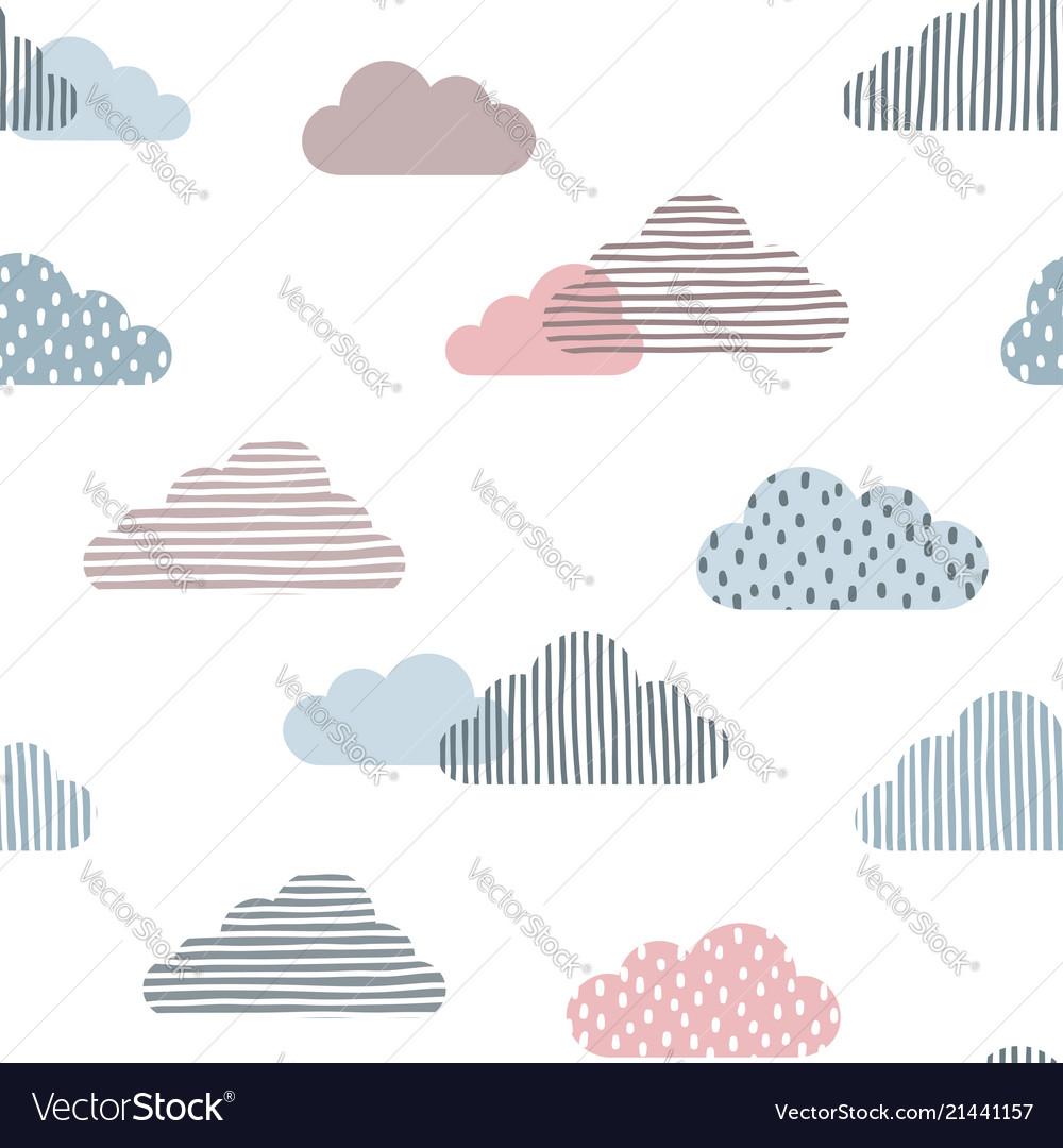 Cute clouds seamless background