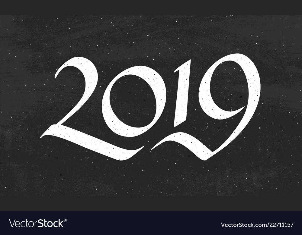Happy new year 2019 greeting card design