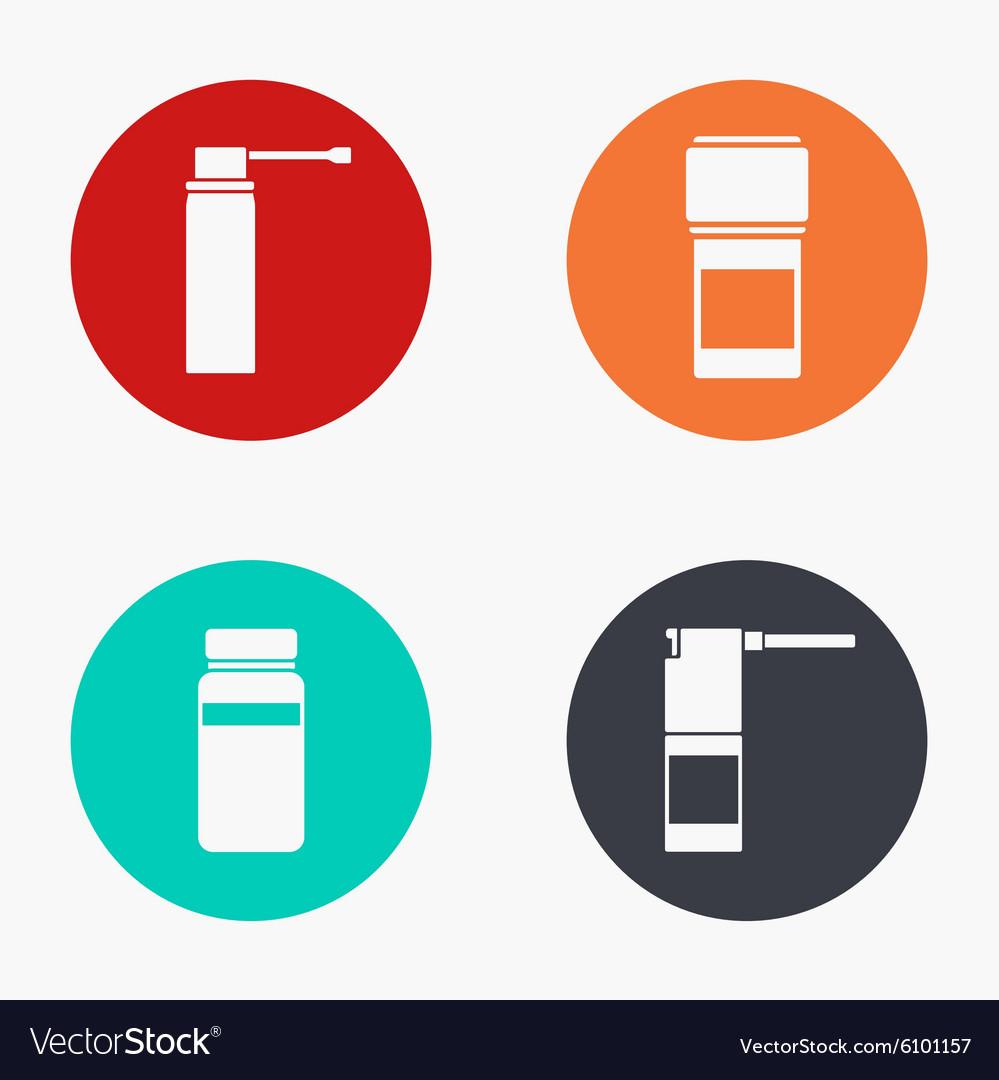 Modern medical kit colorful icons set