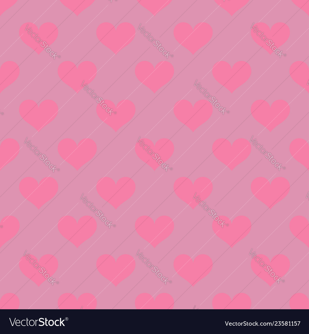 Pink hearts love seamless background pattern