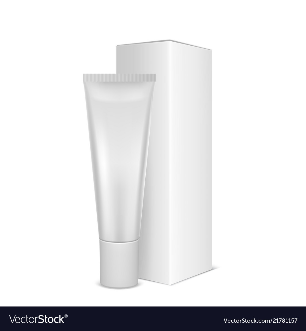 Realistic white blank plastic closed