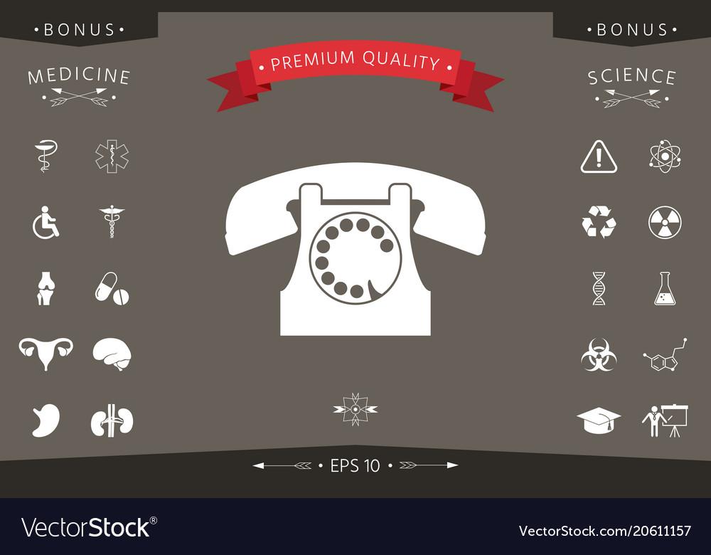 Retro Telephone Symbol Royalty Free Vector Image