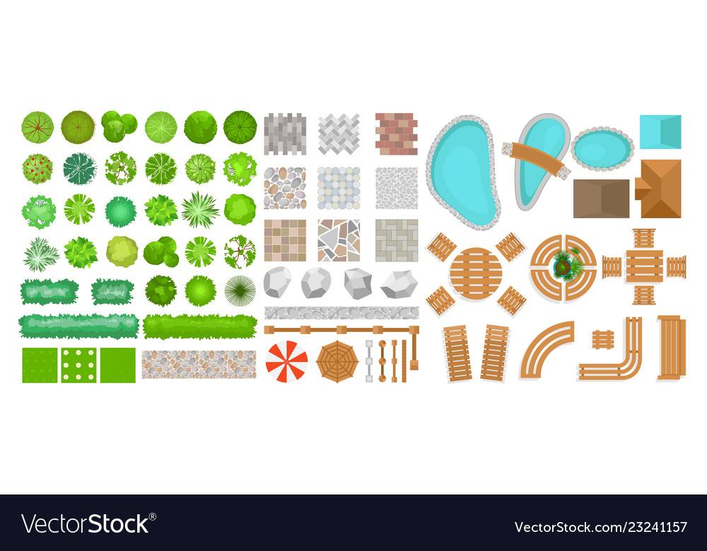 Set of park elements for