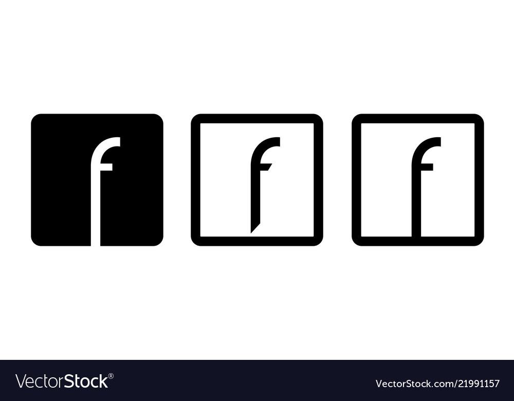 Symbol letter f