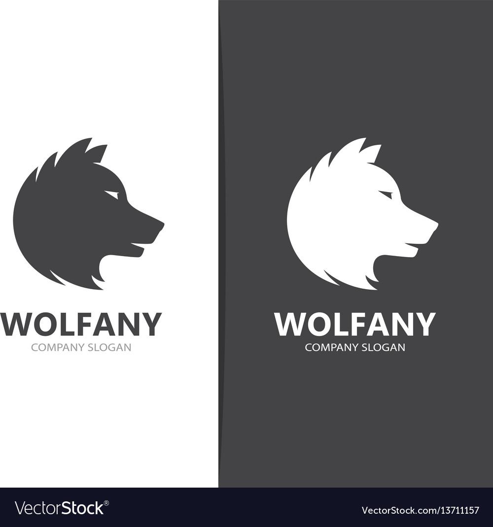 Wolf and predator logo combination