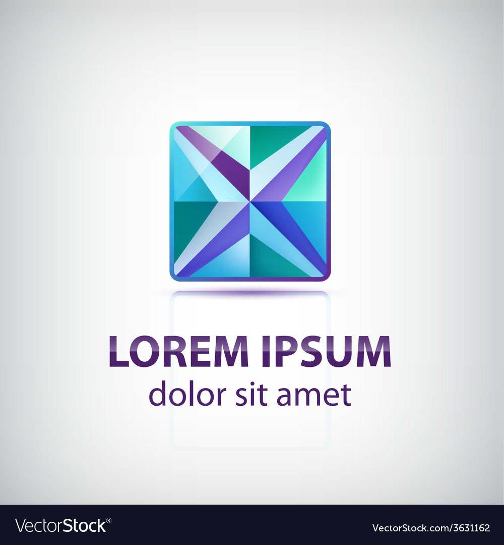 Abstract decorated star square icon logo