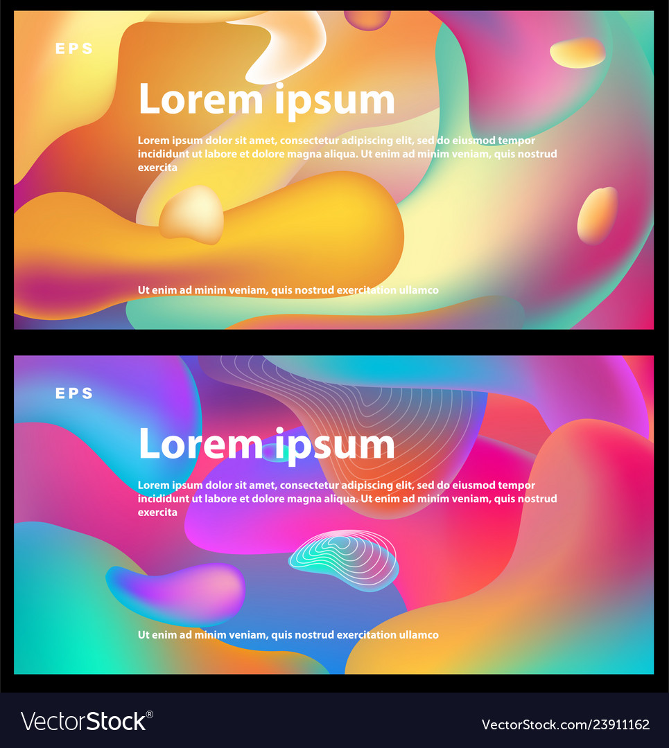 Background with multicolor fluid shapes