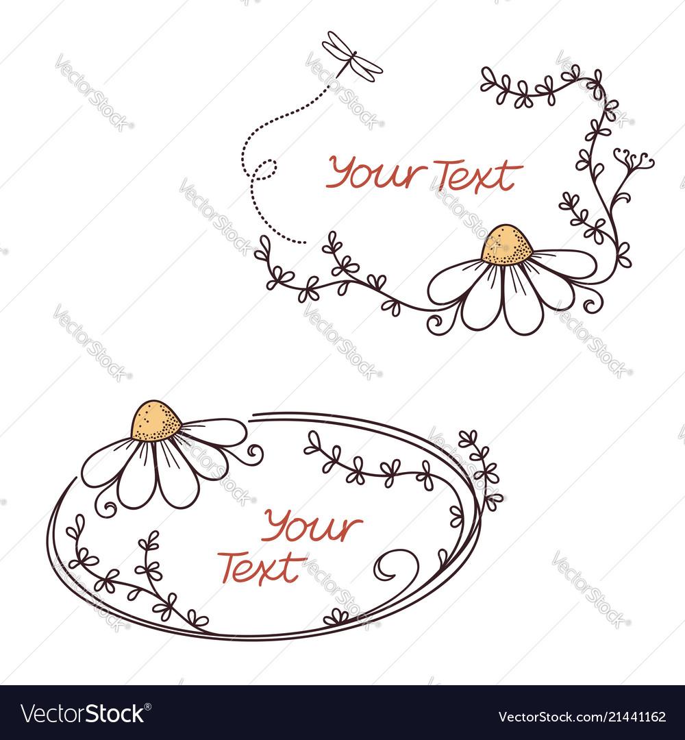 Floral text frames