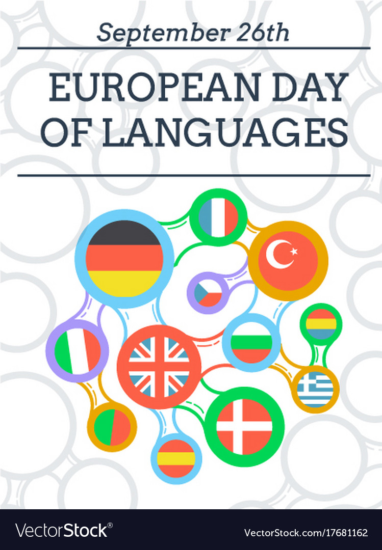 Greeting card european day of languages royalty free vector greeting card european day of languages vector image m4hsunfo