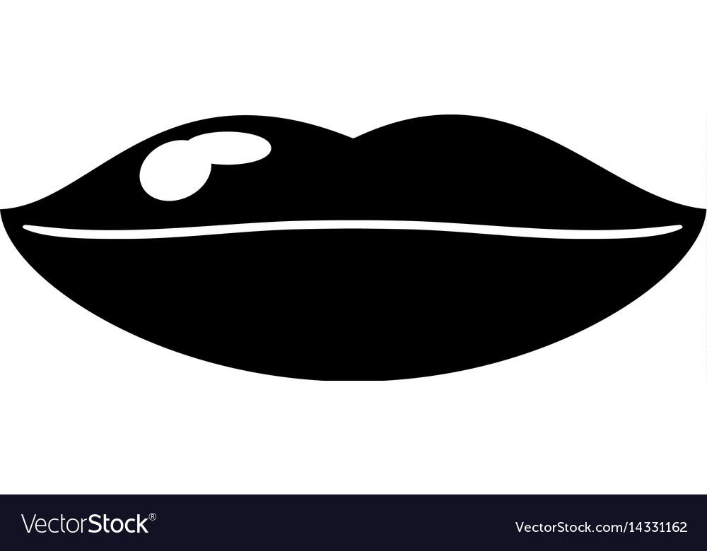 Woman lips sexy symbol pictogram
