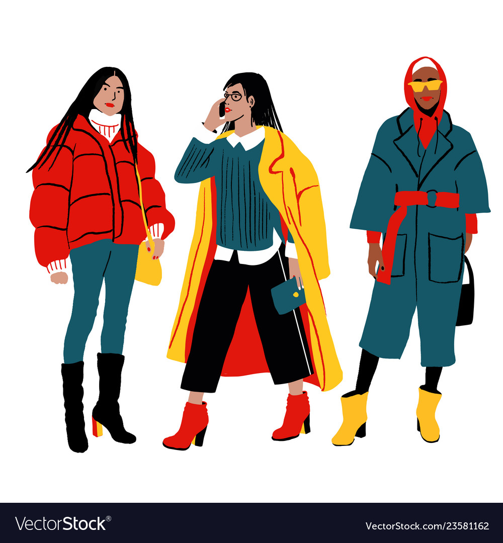 Women s winter street style detailed female