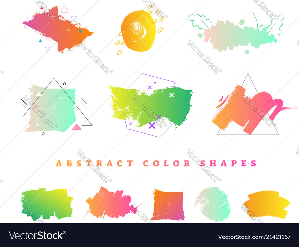 Abstract colorful gradient shape collection