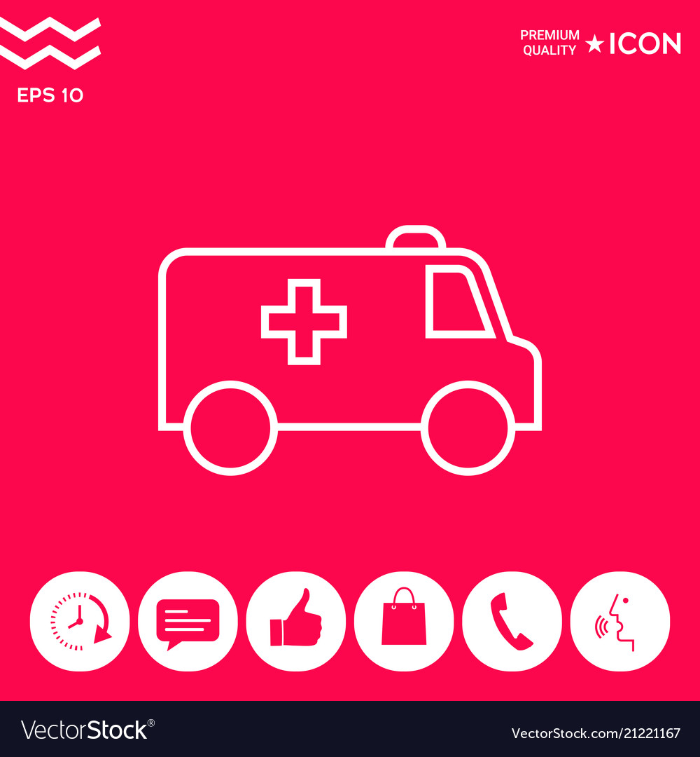 Ambulance line icon